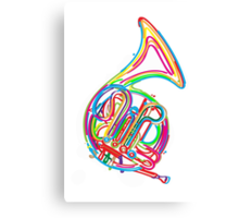 French horn Canvas Print