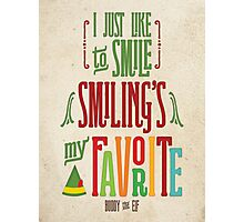 Buddy the Elf - Smiling's My Favorite! Photographic Print
