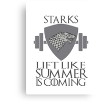 Stark Workout Canvas Print