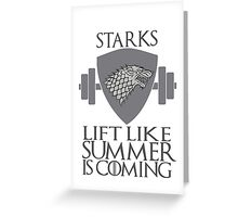 Stark Workout Greeting Card