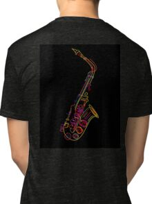 Saxophone Tri-blend T-Shirt