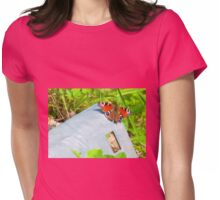 Butterfly resting Womens Fitted T-Shirt