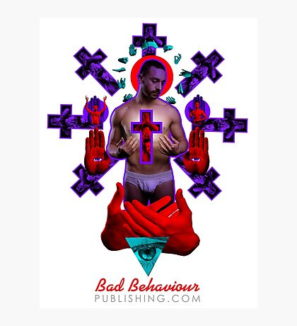 'Father' Tee by Bad Behaviour Photographic Print