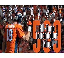 Peyton Manning touchdown king Photographic Print