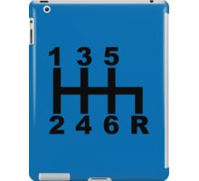 6 speed - blue iPad Case/Skin