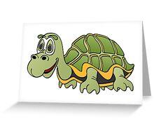 Turtle Cartoon Greeting Card