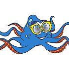 Cartoon Octopus Sunglasses by Graphxpro