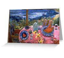Tropical Island Morning,  Greeting Card