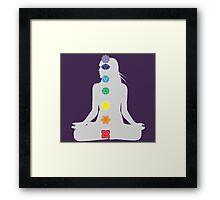 Seven Chakras & The Divine Feminine Framed Print