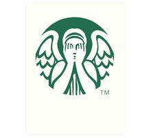 Starbucks Don't Blink Art Print