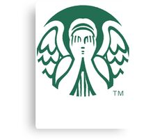 Starbucks Don't Blink Canvas Print