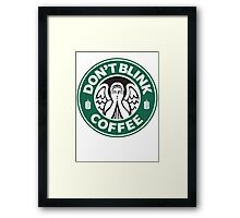 Weeping Angel of Original Starbucks Logo Framed Print