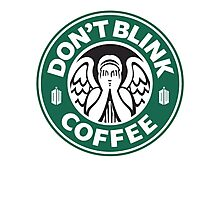 Weeping Angel of Original Starbucks Logo Photographic Print