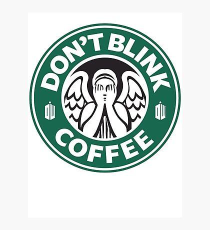 Weeping Angel of Original Starbucks Logo Photographic Print