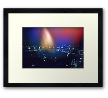City at Night Light Leak Framed Print