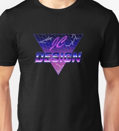 JC Design Retro 80s Style T-Shirt (Purple) Unisex T-Shirt