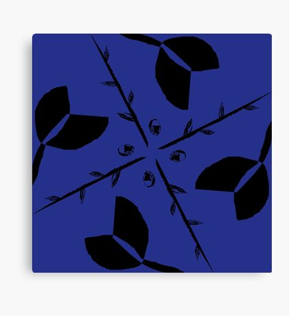 Tulips & Twigs (BLUE) Canvas Print