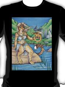 Cheetah and Dragon  T-Shirt
