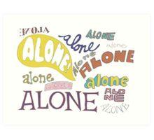 Squidward's Alone Art Print