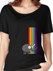 Rainbow elephant Women's Relaxed Fit T-Shirt