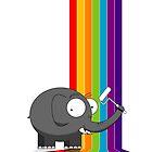 Rainbow elephant by Richard Laschon