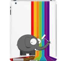 Rainbow elephant iPad Case/Skin