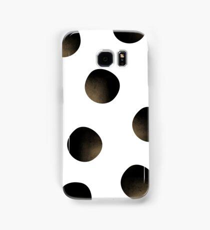 Gold Dusted Black Polka Dots Samsung Galaxy Case/Skin