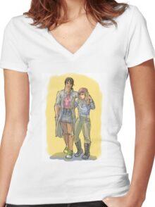 Girlfriends Women's Fitted V-Neck T-Shirt