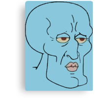 Gorgeous Squidward Canvas Print