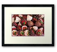 Chocolate Strawberry Decadence!  Framed Print