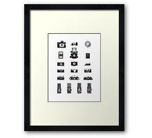 Cameras Collection Framed Print