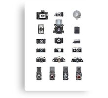 Cameras Collection Canvas Print