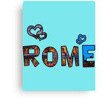 Love Rome Canvas Print
