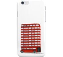 London bus, cartoon style drawing iPhone Case/Skin