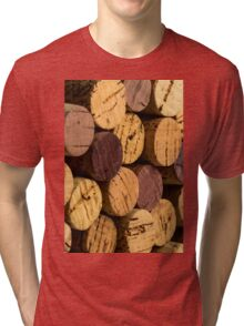 Wine bottle cork ends Tri-blend T-Shirt