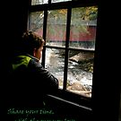 A Grandson At McConells Mill & Covered Bridge by Geno Rugh