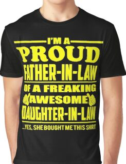 Proud FATHER IN LAW Of Awesome Daughter In Law Graphic T-Shirt