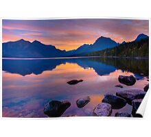 Dawn at Lake McDonald Poster