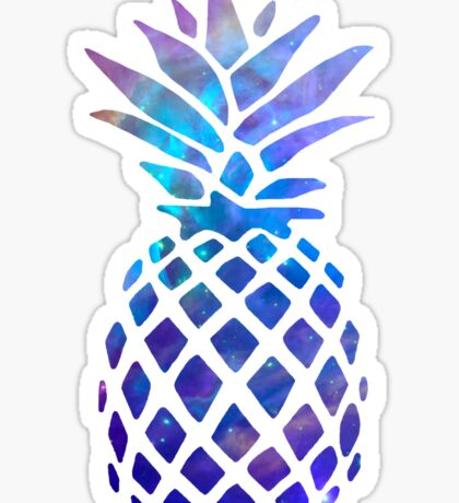 Space Pineapple Sticker