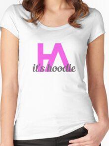 Simplistic Hoodie Allen Design 2 Women's Fitted Scoop T-Shirt