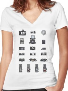 Cameras Collection Women's Fitted V-Neck T-Shirt