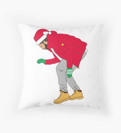 Merry Christmas Drake minimalist Throw Pillow