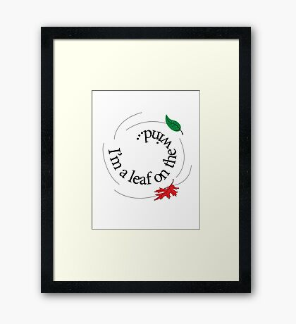 Leaf On The Wind Framed Print