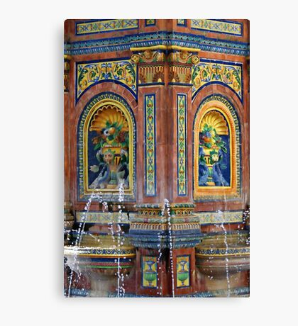 am brunnen Canvas Print