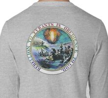 Rebellion to Tyrants is Obedience to God: gold rim Long Sleeve T-Shirt