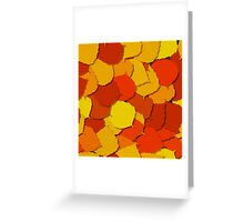 Autumn leaves design Greeting Card