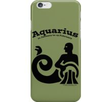 Signs of the Zodiac:   AQUARIUS iPhone Case/Skin