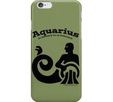 Signs of the Zodiac:   AQUARIUS iPhone Case/Skin