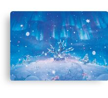 Villagers Christmas (Only 50!) Canvas Print
