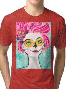Dia De Los Pink Tri-blend T-Shirt